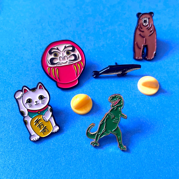 Mystery pack - Four Enamel Pins for £15