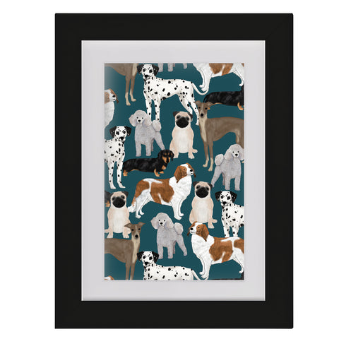 Dogs • Framed Mini Print