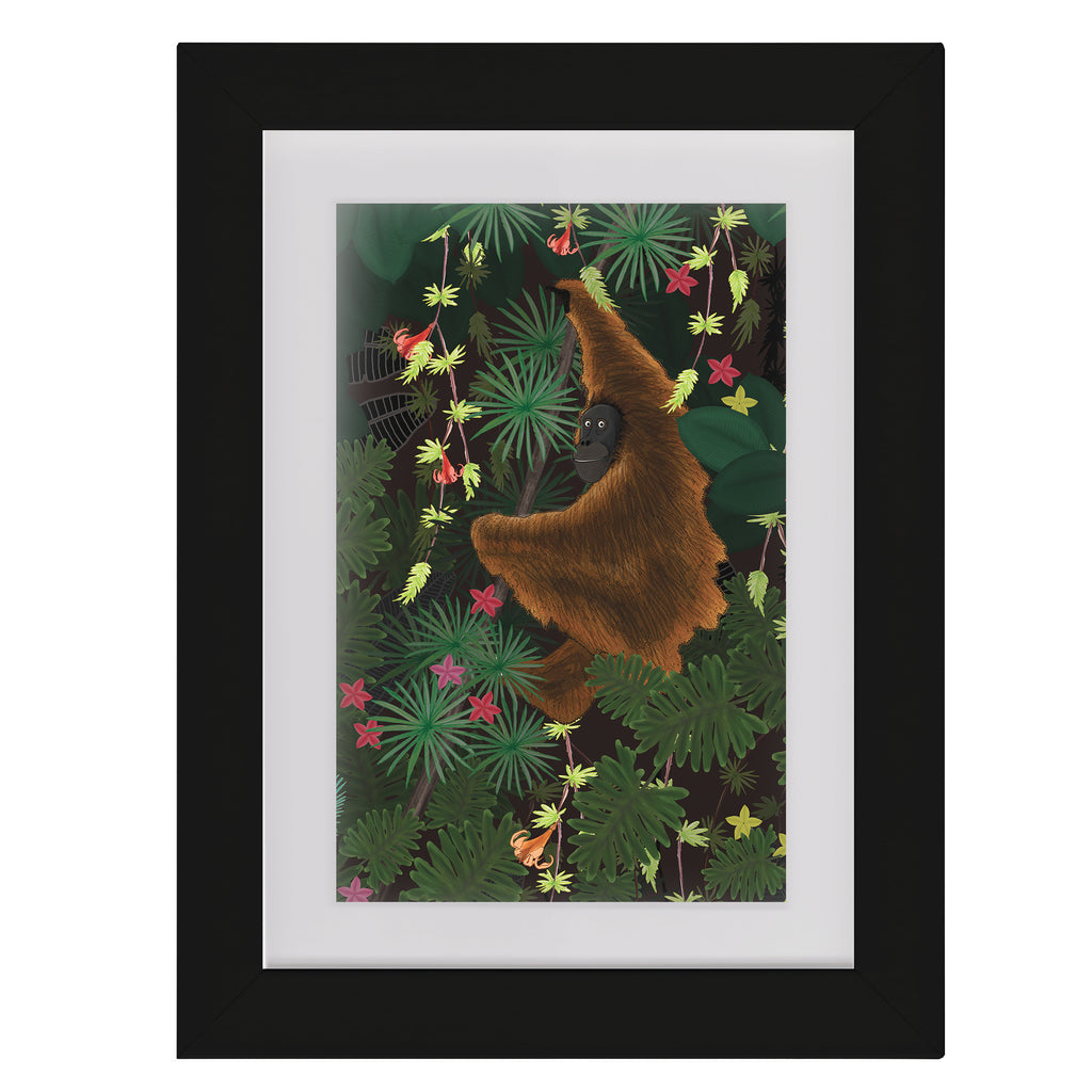 Jungle Orangutan • Framed Mini Print