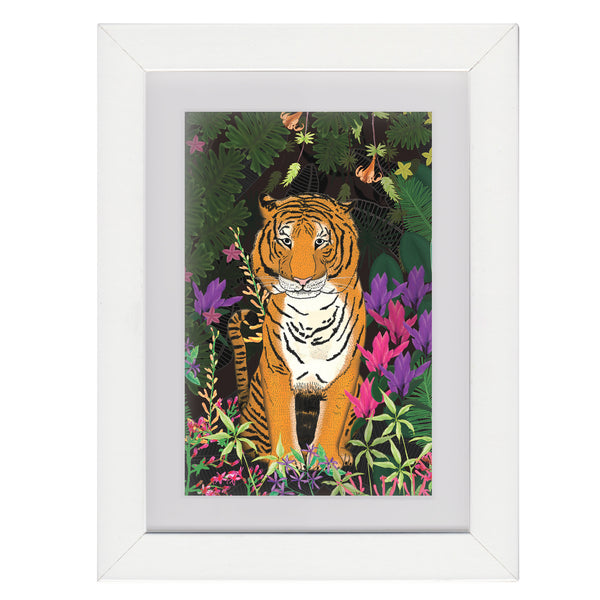 Jungle Tiger • Framed Mini Print