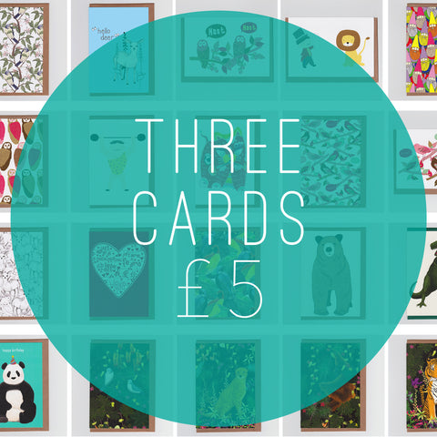 *OFFER - Three Greetings Cards for £5