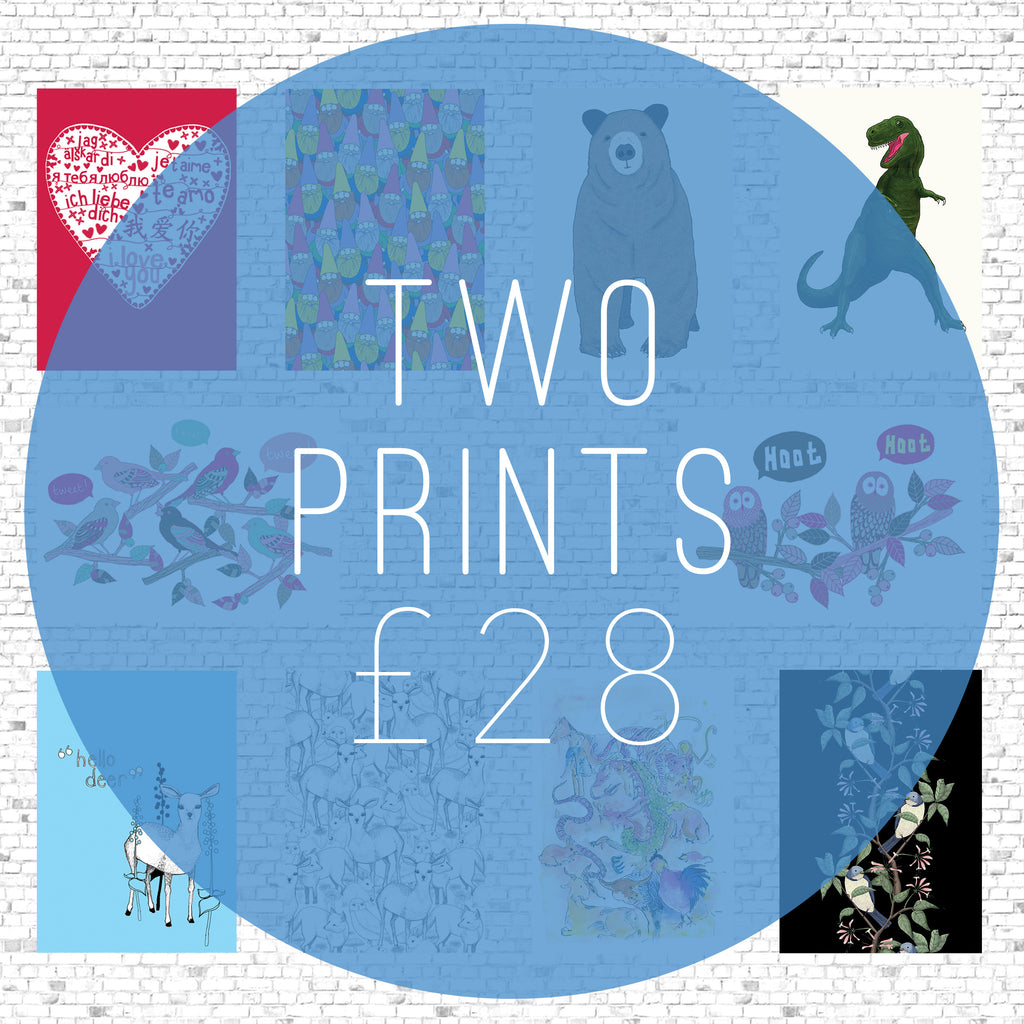 *OFFER - Two A3 Prints for £28 (buy one get one half price)
