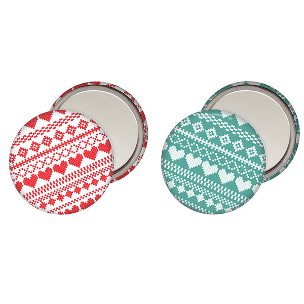 Fair Isle Pocket Mirror