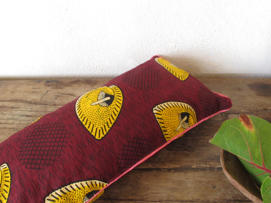 Free Shipping!!! Lumbar Cushion Cover / African Wax Pillow Cover