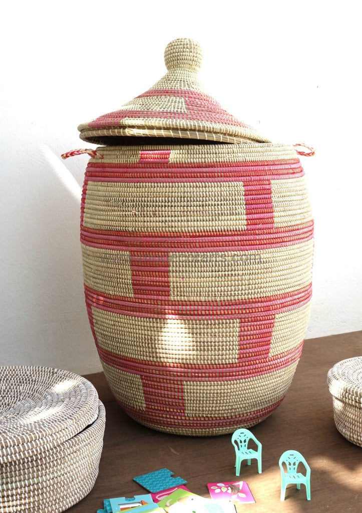 Beautiful patterned baskets can suit to your home decor. Upgrade your home decor with our laundry baskets.