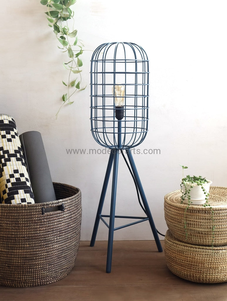 Floor Lamp / Hand Weld Cage Light