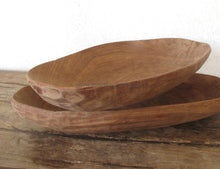 Oval Salad Bowl // Hand Carved Plate Tableware
