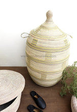 wicker basket, basket, laundry basket, Senegalese basket, seagrass basket