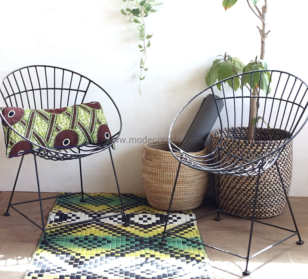 This metallic handmade black chair can fit to modern stylish home decor, balcony or your garden patio.