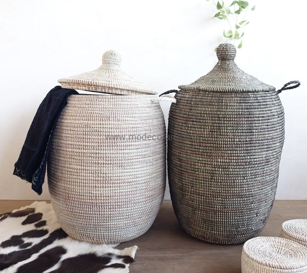 African laundry basket can hold many of dirty clothes. Storage baskets from modecorarts are affordable.