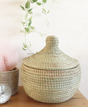 Sale | Small Alibaba Basket Container / Natural Baby Laundry Nursery Flat Lid