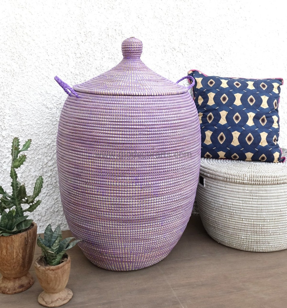Sale, Laundry Basket from Senegal, Laundry Hamper from Africa, Laundry Basket, Senegalese Basket