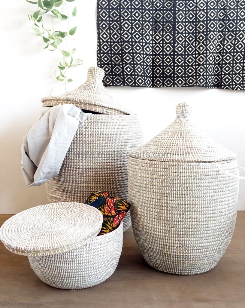 African laundry basket can hold many of dirty clothing. Storage baskets from modecorarts are affordable.