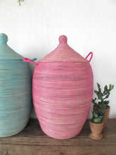 Solid Pink Laundry Basket In Xl / Hamper African Home Decor Tajine Lid