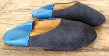 Suede Leather Shoes // 2 Colored Babouche