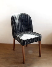Upholstered Chair // Dining Chair With Mud-Cloth
