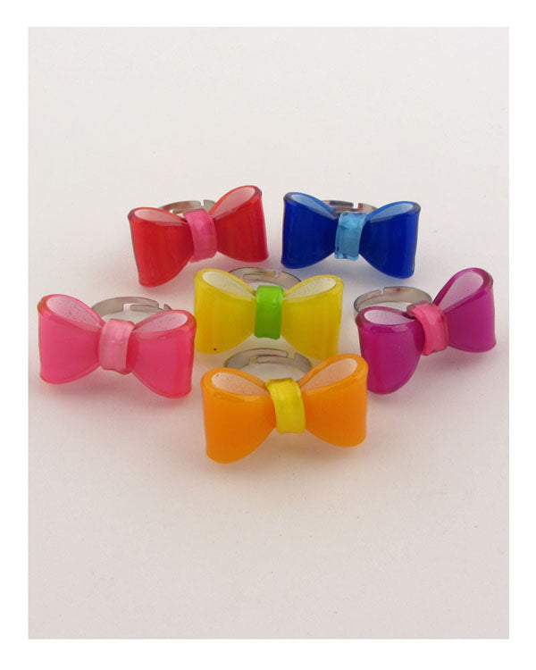 Plastic like adjustable bow ring
