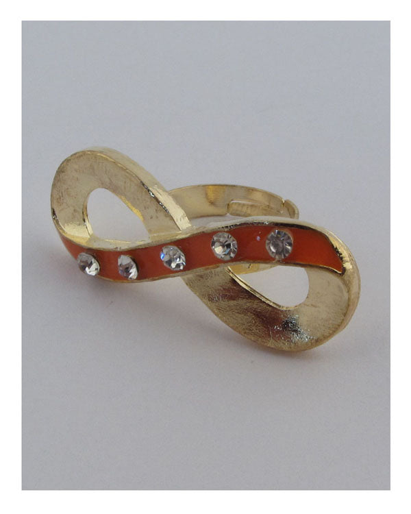 Two tone infinity adjustable ring