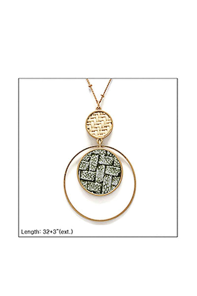 Modern Double Layer Pendant Necklace