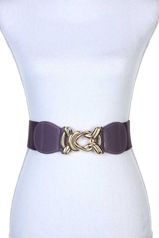 Knot Metal Buckle Stretch Belt