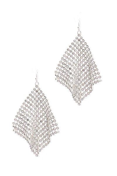Stylish Movable Rhinestone Sequence Earring