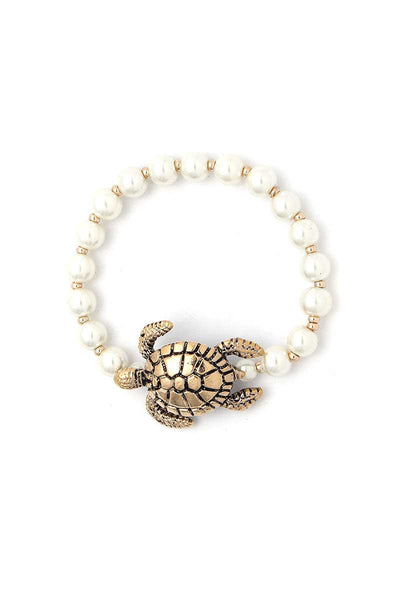 Sea Turtle Charm Beaded Bracelet