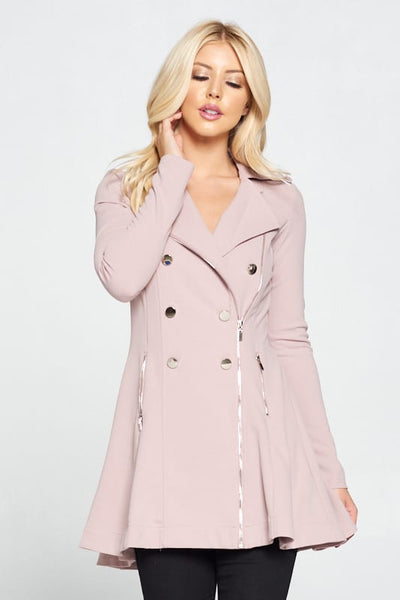 Double Breasted Flare Blazer Dress
