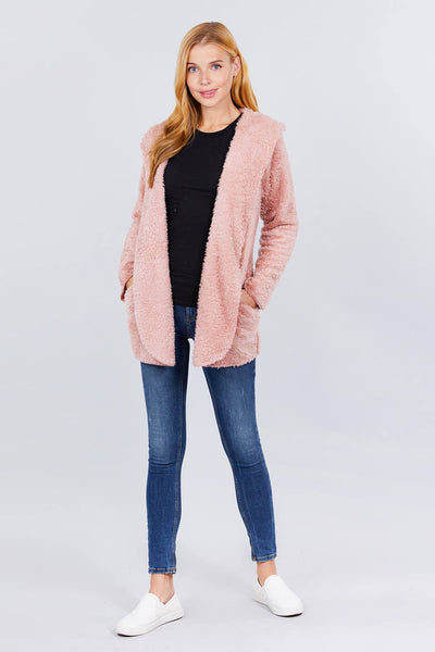 Hoodie Faux Fluffy Jacket