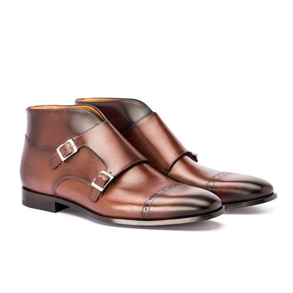 Classic Double Monk Strap boot  | The Deuce