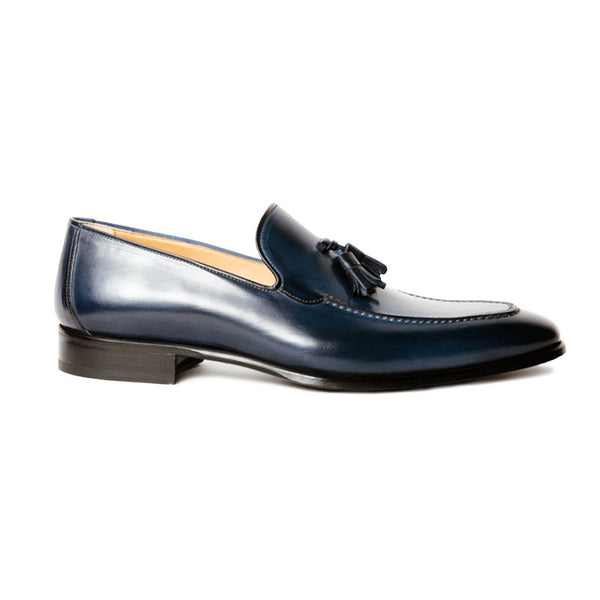 The Mint in Midnight Blue | Loafer | Donum Shoes