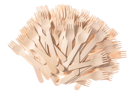 Collection of birch wood forks