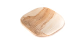 4 inch square palm leaf plate at angle