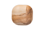 Top of 4 inch square palm leaf plate