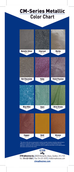 CTM Adhesives Metallic Pigment Packs