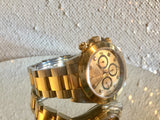 Rolex Daytona, Rare Zenith Movement Rolex, Rolex 40mm, Rolex Factory Original Champagne Diamond Dial, Rolex Tachymeter Bezel In Excellent Condition, Ultra Collectible Rolex, 2tone, Steel and 18k Yellow Gold.