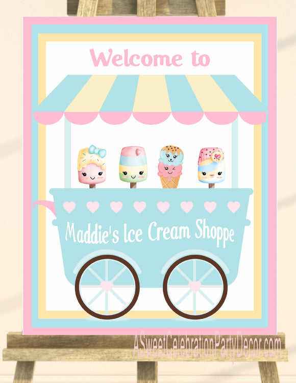 ICE CREAM KAWAII PASTEL - BIRTHDAY - PRINTABLE 16