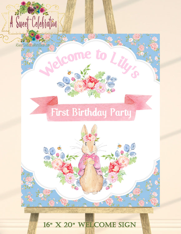 PETER RABBIT FLORAL - PERSONALIZED 16
