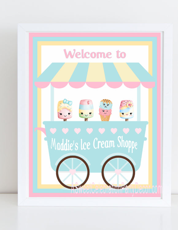 ICE CREAM KAWAII PASTEL - BIRTHDAY - PRINTABLE 8