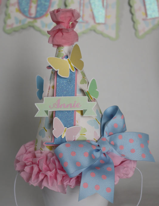BUTTERFLY KISSES - BIRTHDAY PARTY HAT