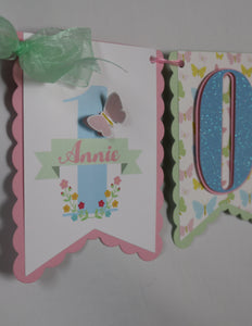 BUTTERFLY KISSES - HIGH CHAIR  BANNER