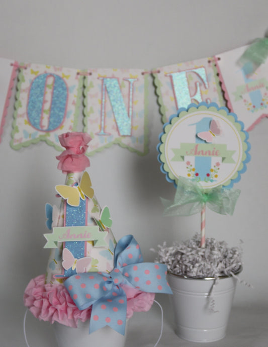 BUTTERFLY KISSES- SMASH CAKE BIRTHDAY PARTY PACKAGE