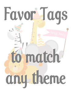 FAVOR TAGS - TO MATCH ANY THEME