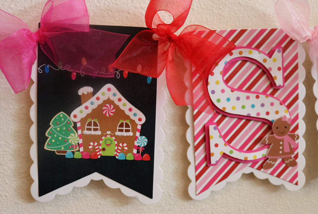 GINGERBREAD HOUSE - HAPPY BIRTHDAY BANNER