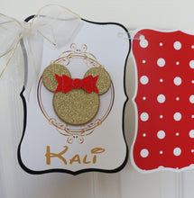 MINNIE MOUSE RED & GOLD 12M PHOTO BANNER