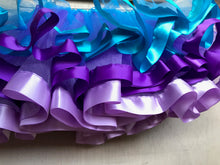 TUTU - TURQUOISE PURPLE LAVENDER SATIN RIBBON