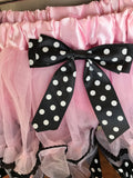 TUTU - PINK & BLACK WHITE POLKA DOT - MINNIE MOUSE