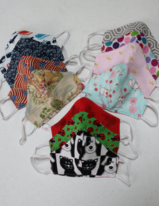 FACE MASKS  - TODDLER - CHILD - PRETEEN - 3 LAYERS - SHIPS FREE