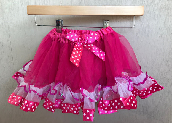 TUTU - FUSHIA POLKA DOT - MINNIE MOUSE