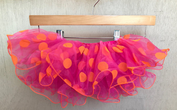 TUTU - FUSCHIA and ORANGE POLKA