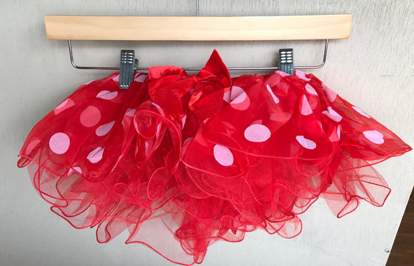 TUTU - RED WHITE POLKA